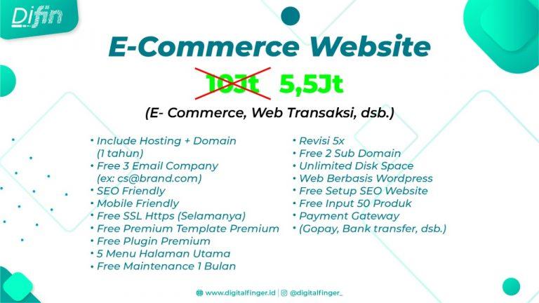 Jasa Pembuatan Website E Commerce